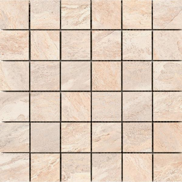 Milestone Dust Matte 11.81 in. x 11.81 in. x 9.5mm Porcelain Mesh-Mounted Mosaic Tile (0.97 sq. ft.)