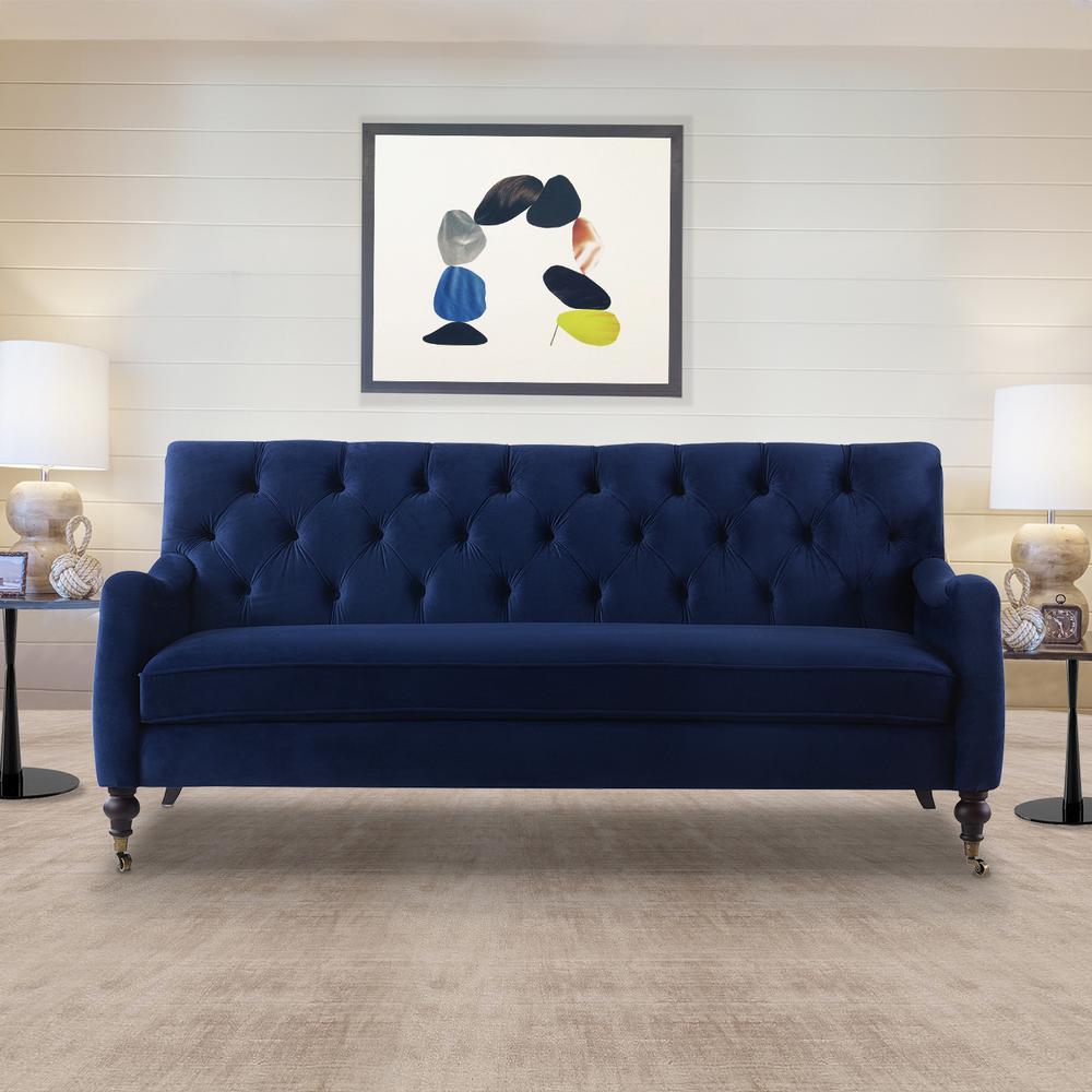 Jennifer Taylor Xander Navy Blue Tufted Sofa 63580-3-859 ...