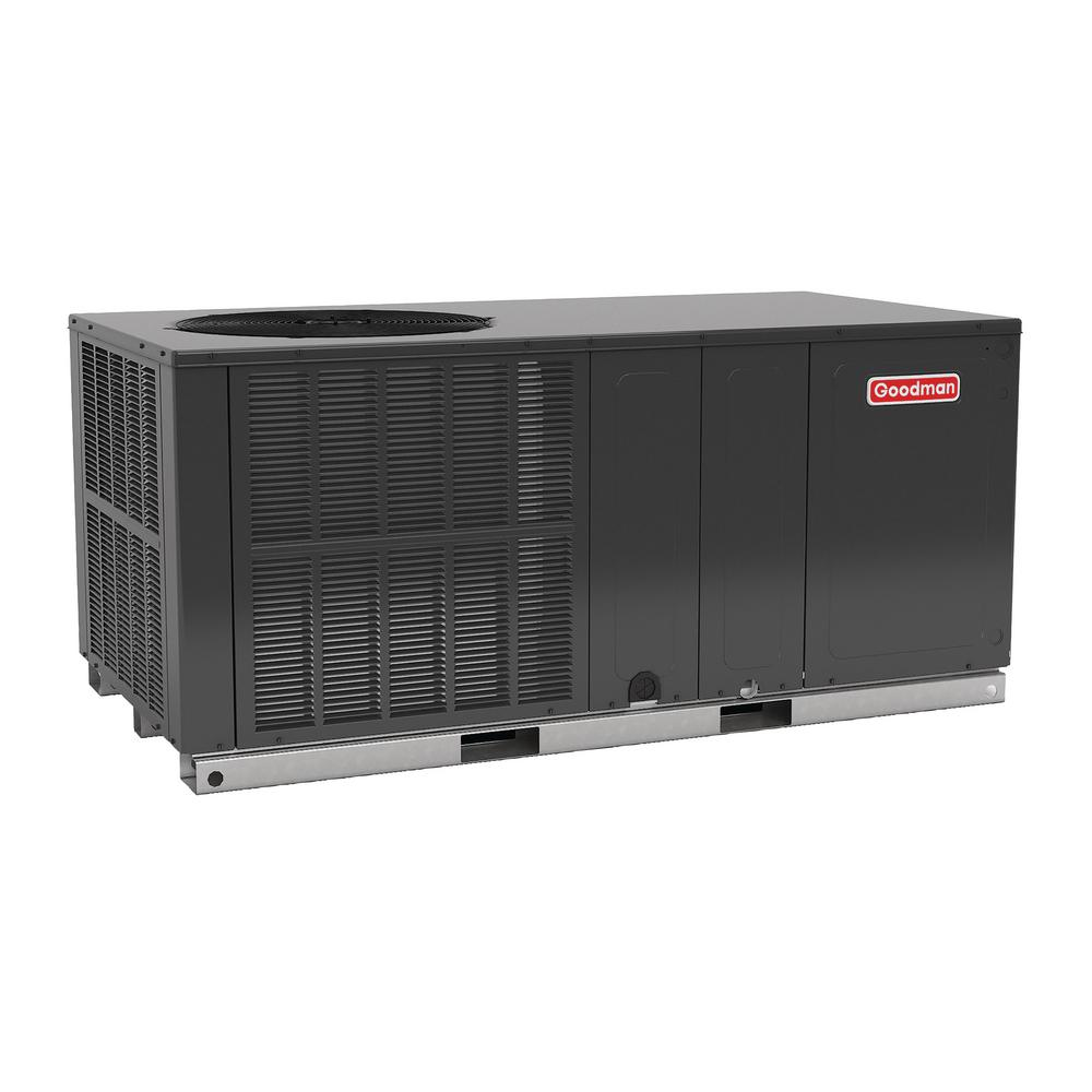 Goodman 2 5 Ton 16 Seer R 410a Horizontal Package Air Conditioner Heat Pump Gph1630h41 The Home Depot