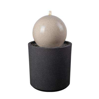 Rosemary 28 in. Composite Gray and White Floor Fountain