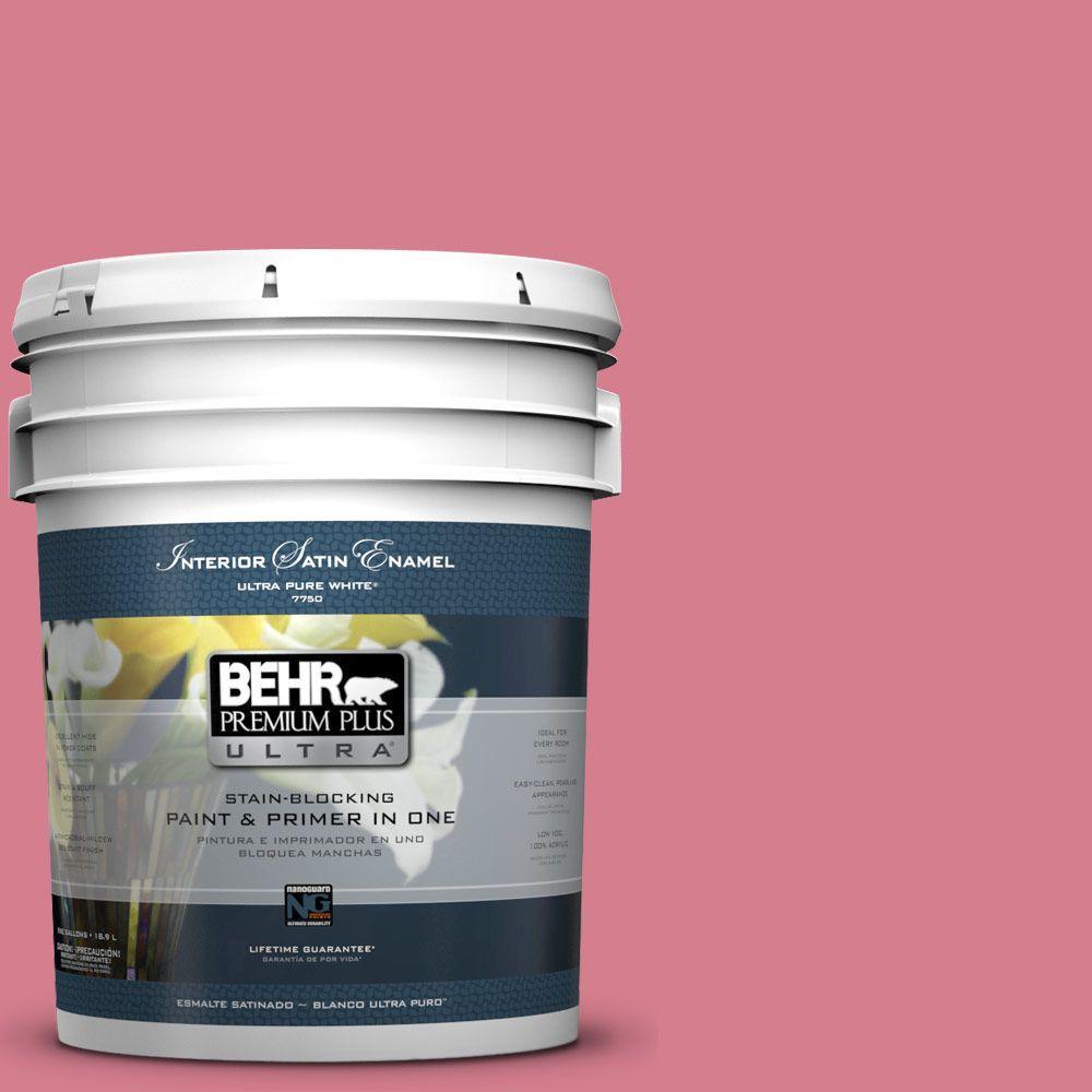 5-gal. #P140-4 I Pink I Can Satin Enamel Interior Paint