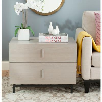 Herschel Gray and Black End Table