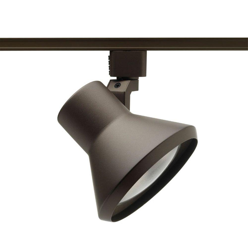 Juno 75-Watt Flare Bronze Track Lighting Head