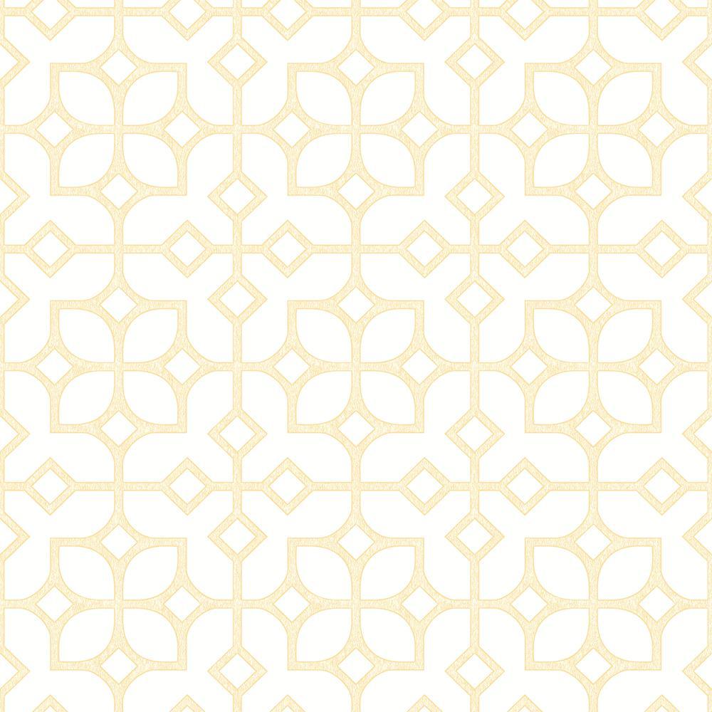 Maze Yellow Tile Wallpaper