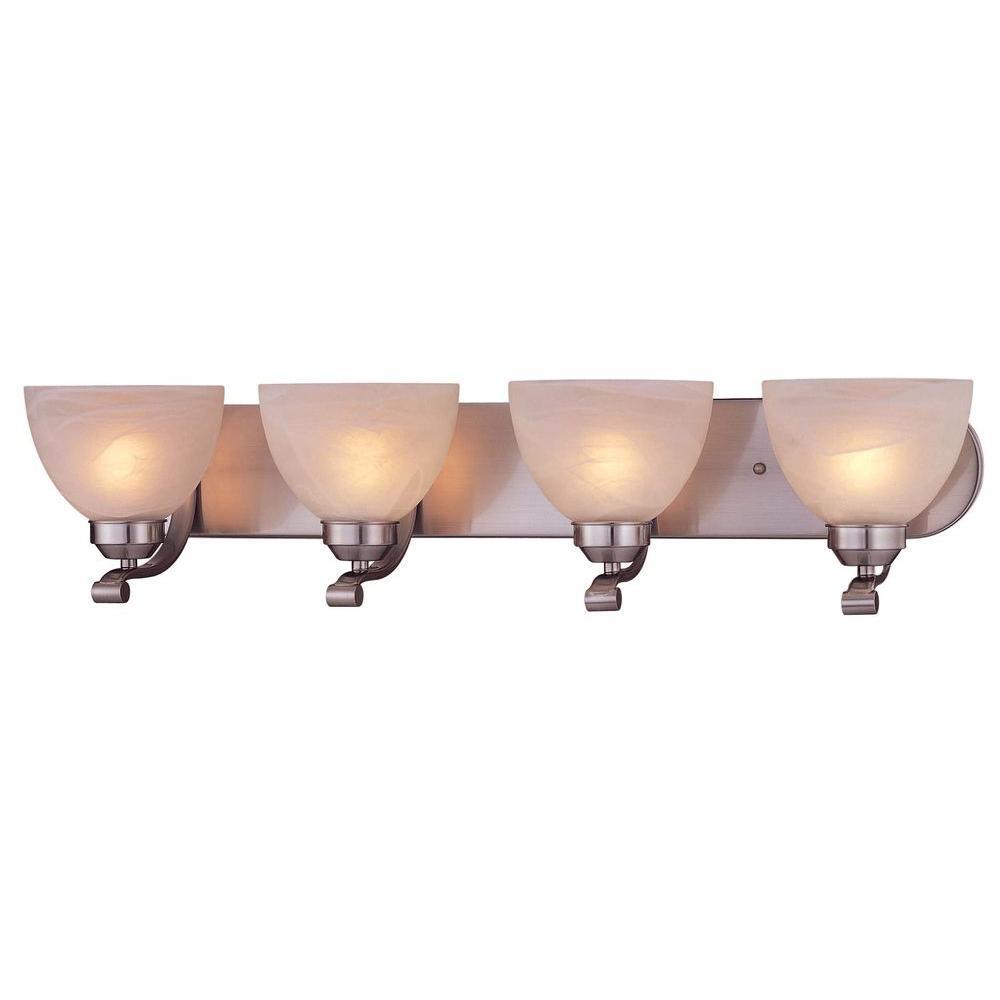 Minka Lavery Paradox Light Brushed Nickel Bath Light The - 4 light bathroom fixture brushed nickel