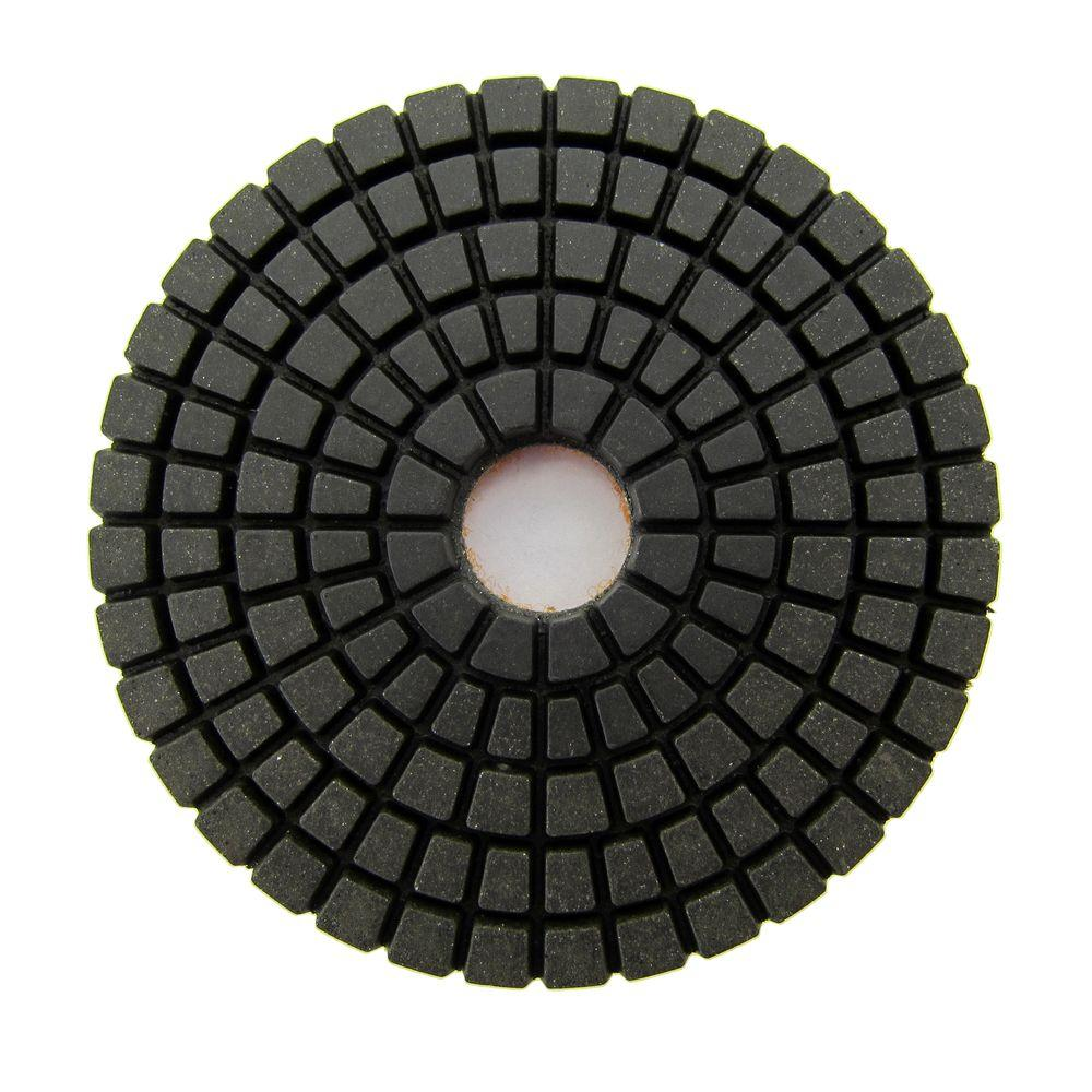 3 in. #100 Grit Wet Diamond Polishing Pad for Stone
