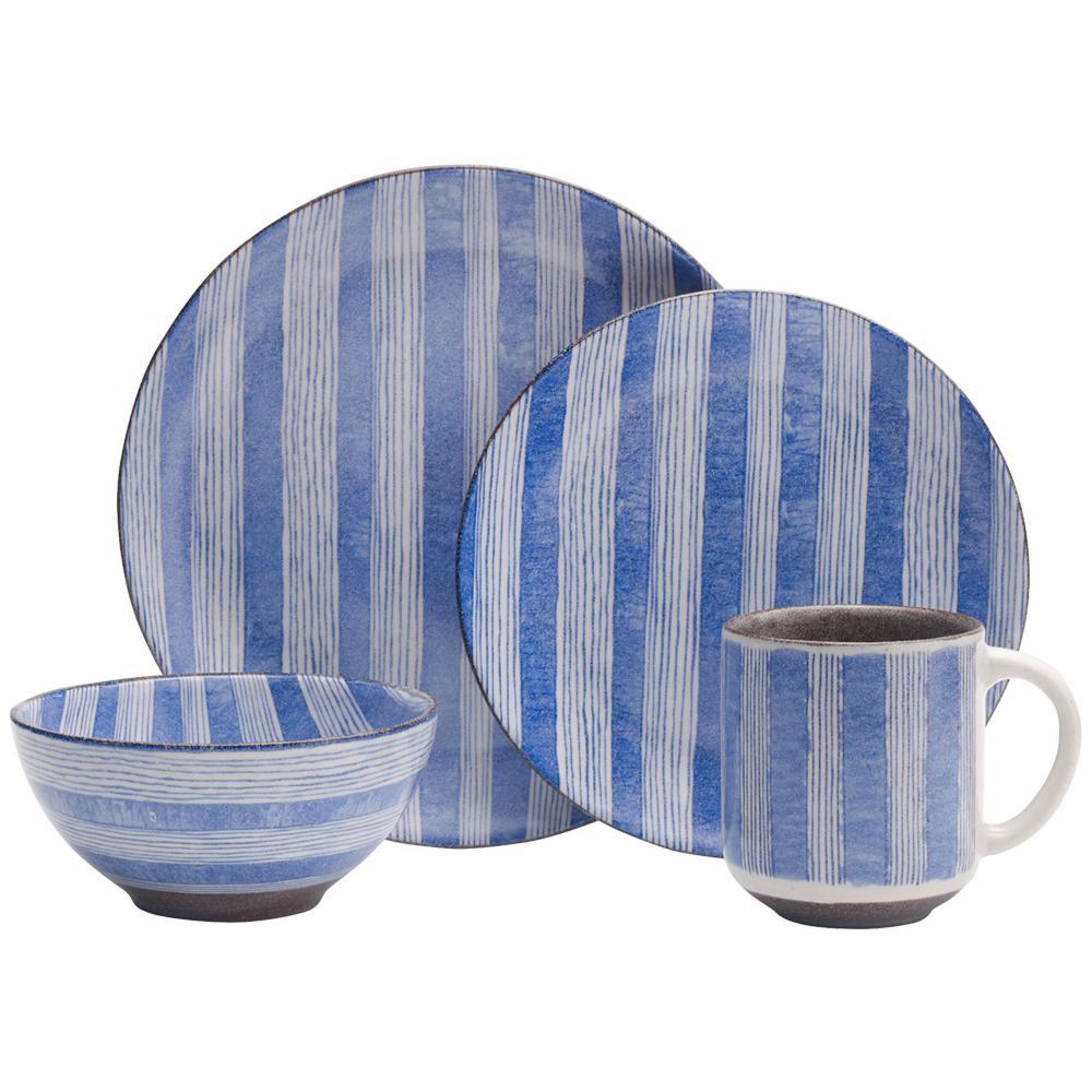 Windsor 16-Piece Stoneware Dinnerware Set (Service for 4)
