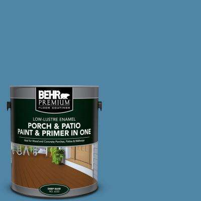 1 gal. #M500-4 Hemisphere Low-Lustre Interior/Exterior Paint and Primer In One Porch and Patio Floor Paint
