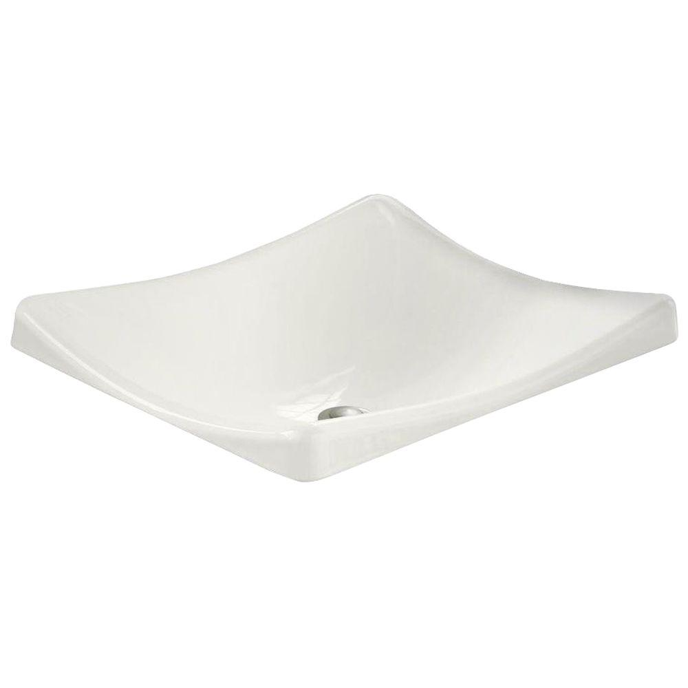 kohler demilav wading pool cast iron vessel sink in white 19026