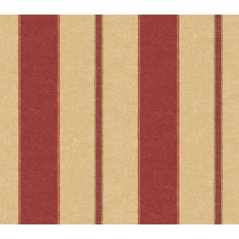 The Wallpaper Company 56 sq. ft. Red Architectural Stripe Wallpaper