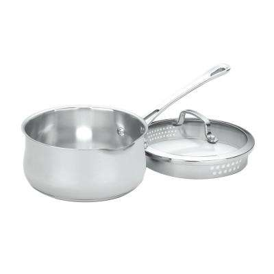 Contour Stainless Steel 2 Qt. Saucepan with Lid