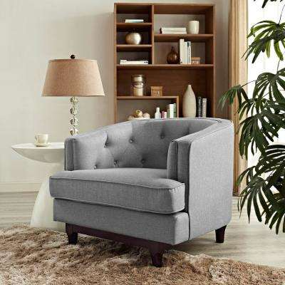 Coast Upholstered Armchair in Light Gray