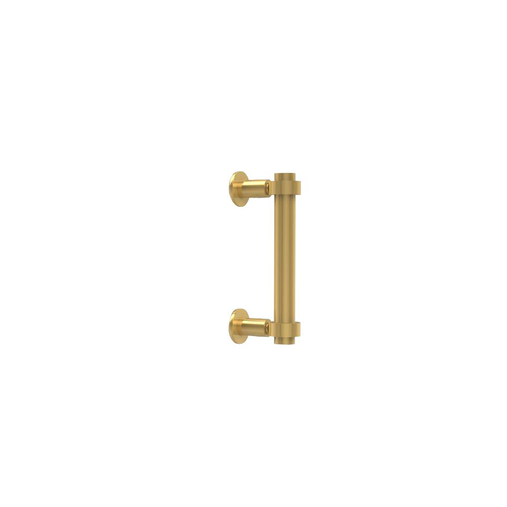 Contemporary 6 in. Back to Back Shower Door Pull in Unlacquered