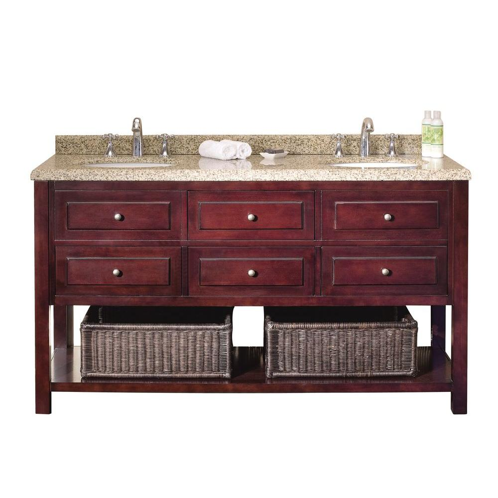 Ove decors danny 60 in vanity in mahogany with sand for Decor vanity