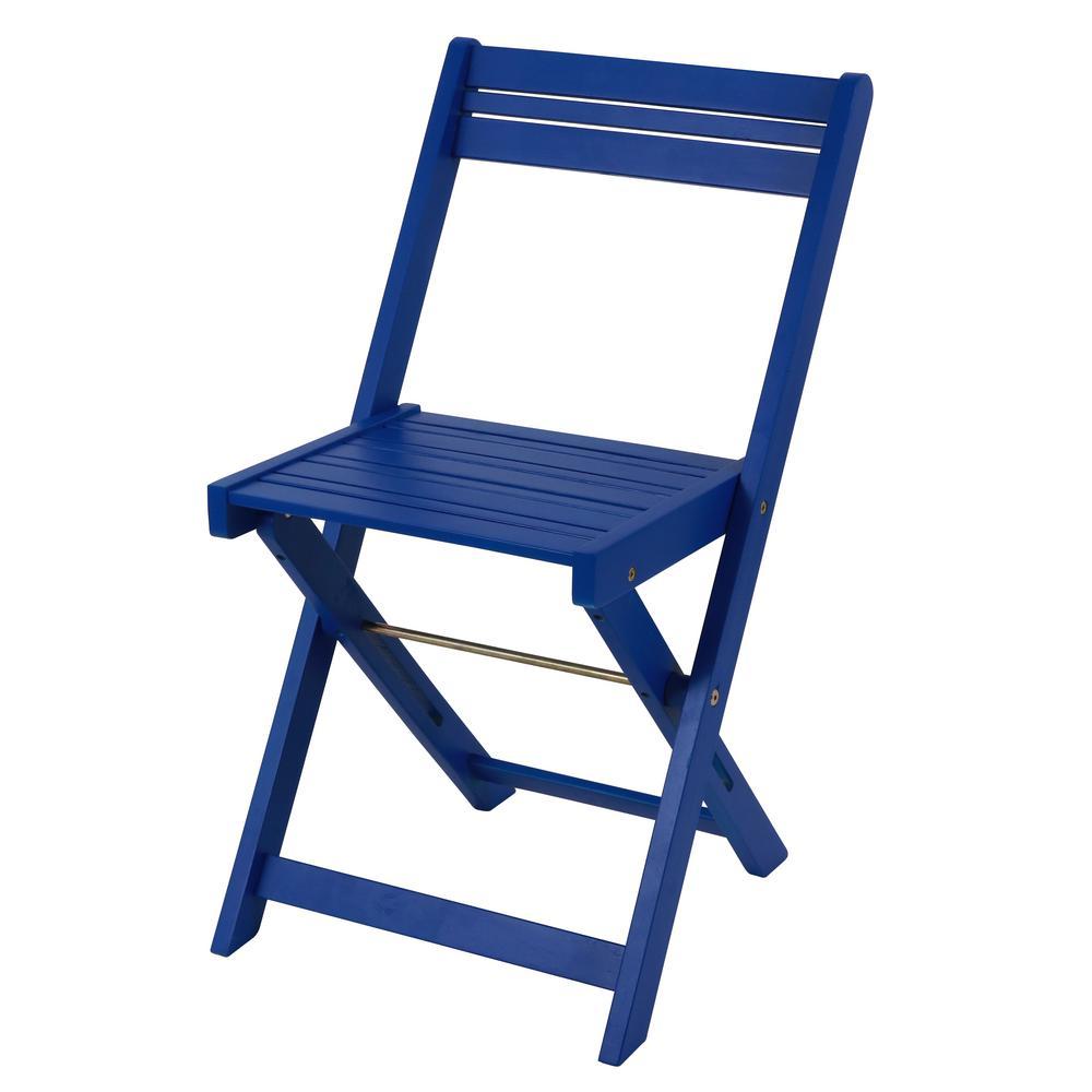 Oasis Blue 3-Piece Wood Outdoor Bistro Set