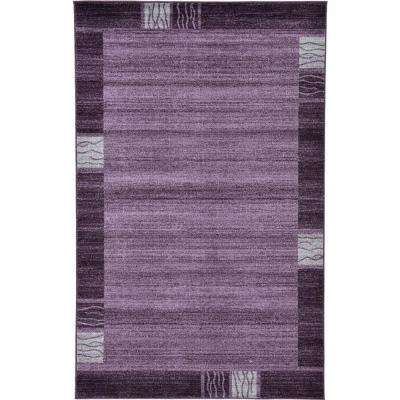 Del Mar Sarah Purple 5' 0 x 8' 0 Area Rug