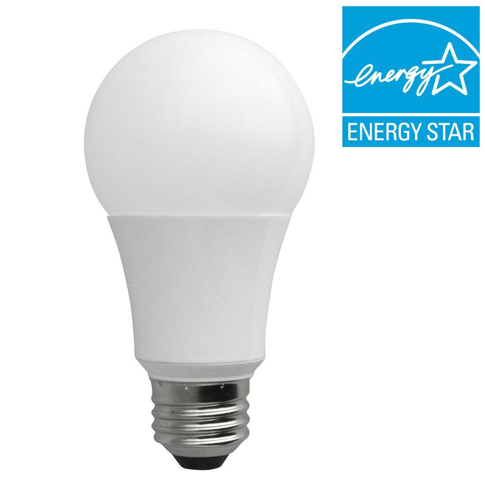 TCP 40W Equivalent Soft White (2700K) A19 230-Degree Non-Dimmable LED Light Bulb