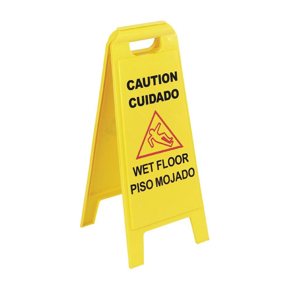 x 25 in. English, Spanish Floor Sign