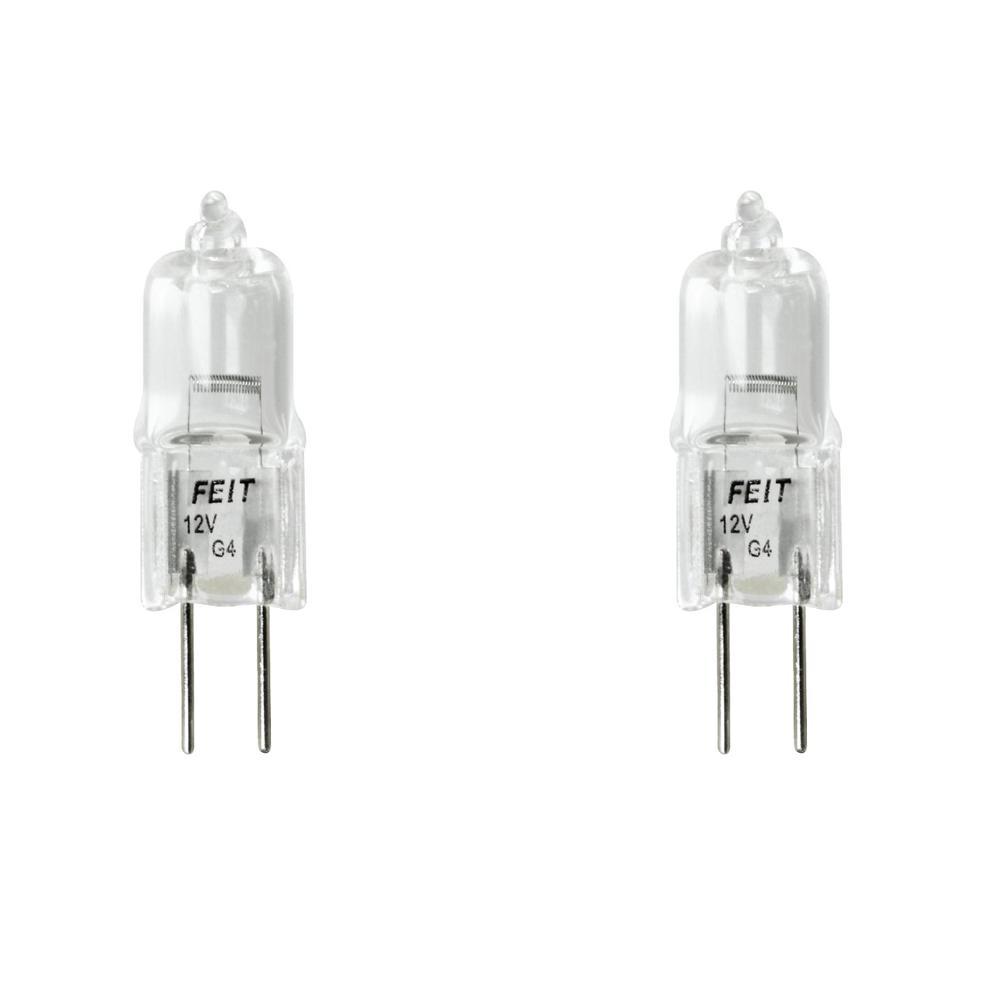20-Watt Bright White (2800K) T3 G4 Bi-Pin Base Dimmable Landscape Garden Halogen Light Bulb (2-Pack)