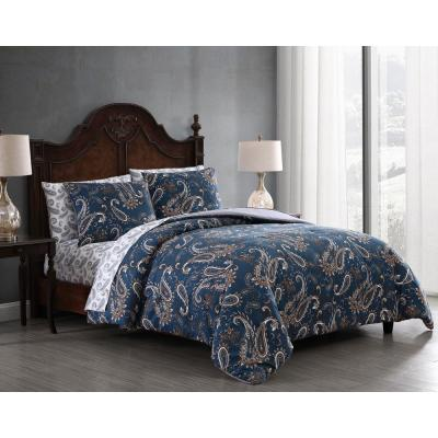 Cristobal 5-Piece Teal Paisley Twin Bed in a Bag