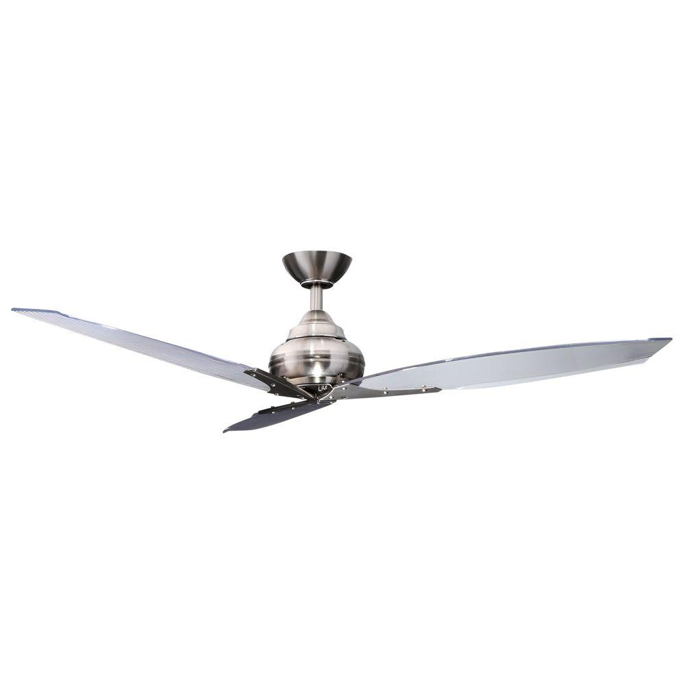 Hampton Bay Floine Iv 56 In Indoor Brushed Nickel Ceiling Fan With Wall Control Ac299 Bn The Home Depot