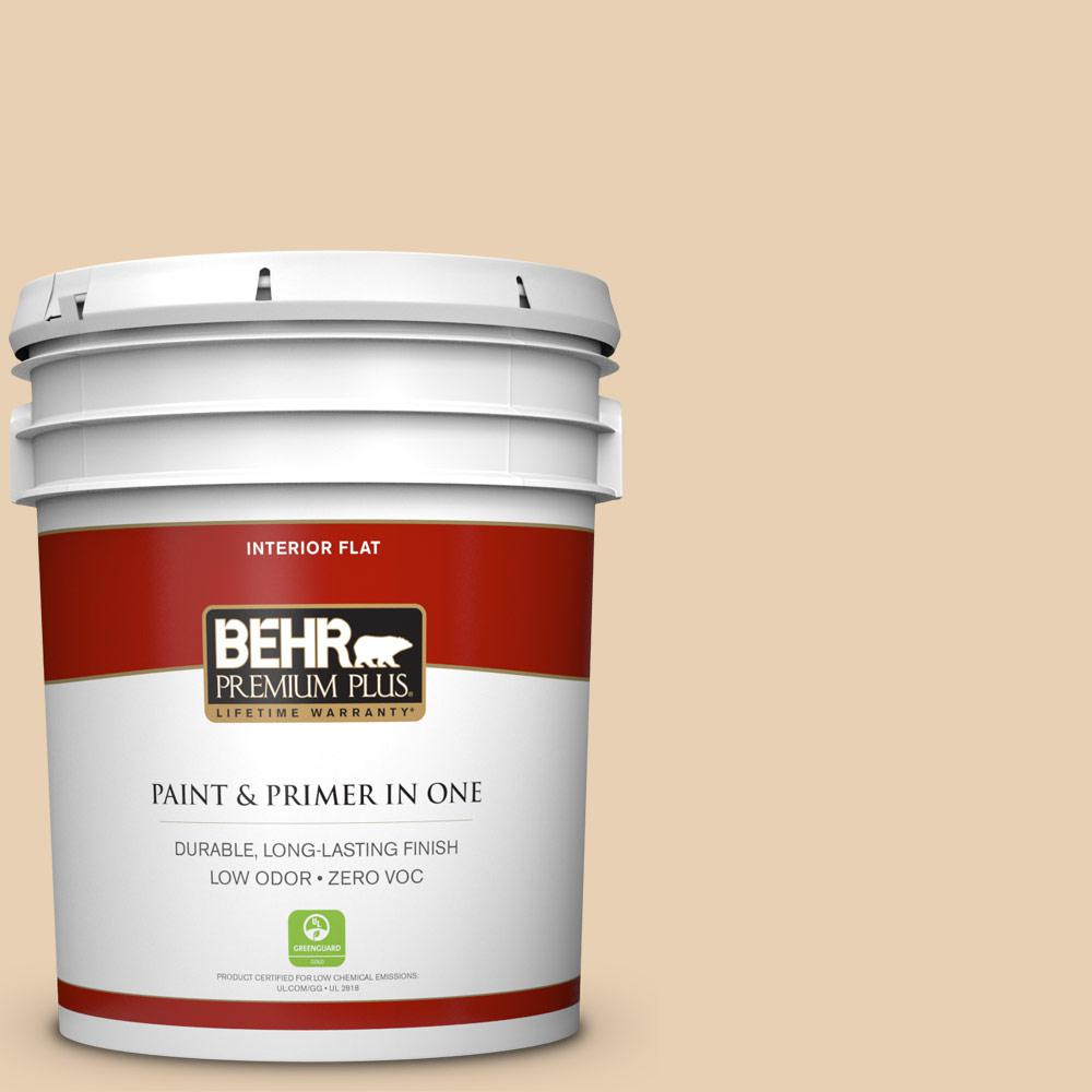 BEHR Premium Plus 5-gal. #S290-2 White Bean Hummus Flat Interior Paint