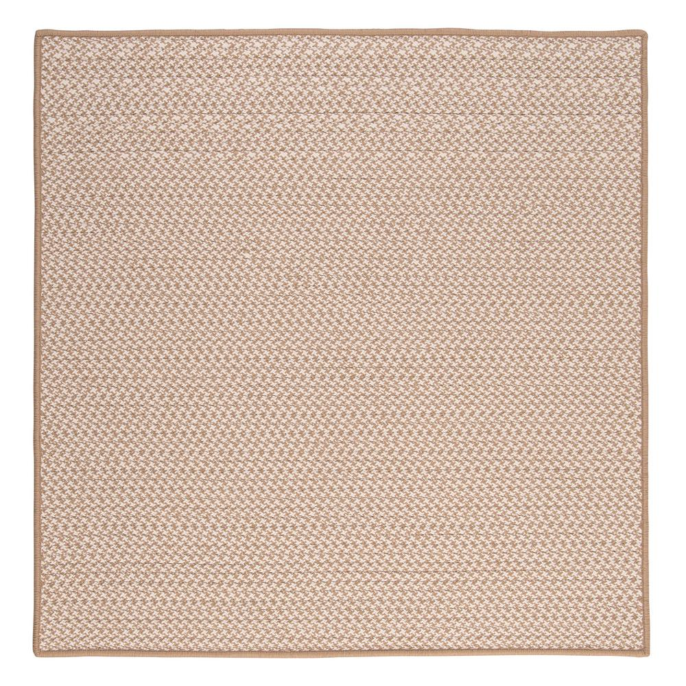 Sadie Sand (Brown) 8 ft. x 8 ft. Indoor/Outdoor Braided A...