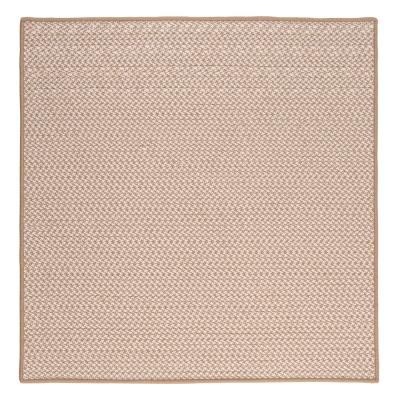 Sadie Sand 10 ft. x 10 ft. Indoor/Outdoor Braided Area Rug