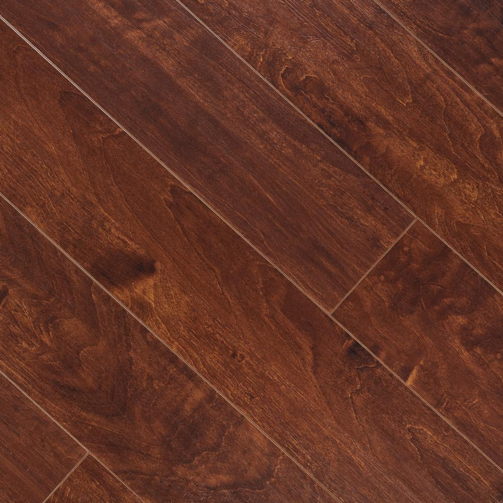Hampton Bay Hand Scraped La Mesa Maple 8 mm Thick x 5-5/8 in. Wide x 47-3/4 in. Length Laminate Flooring (18.65 sq. ft. / case)