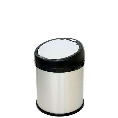 8 Gal. Stainless Steel Round Extra-Wide Opening Motion Sensing Touchless Trash Can