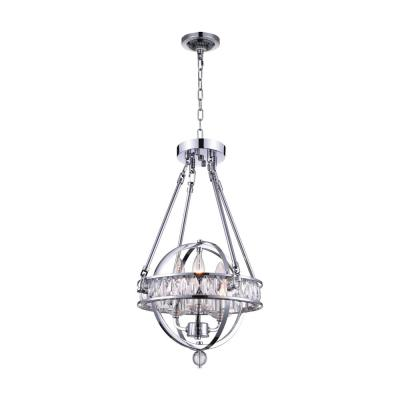 Arkansas 3-Light Chrome Chandelier