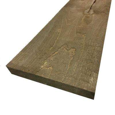 1 in. x 8 in. x 6 ft. Driftwood Brown Painted Rough Pine Barn Board (3 Per Box)
