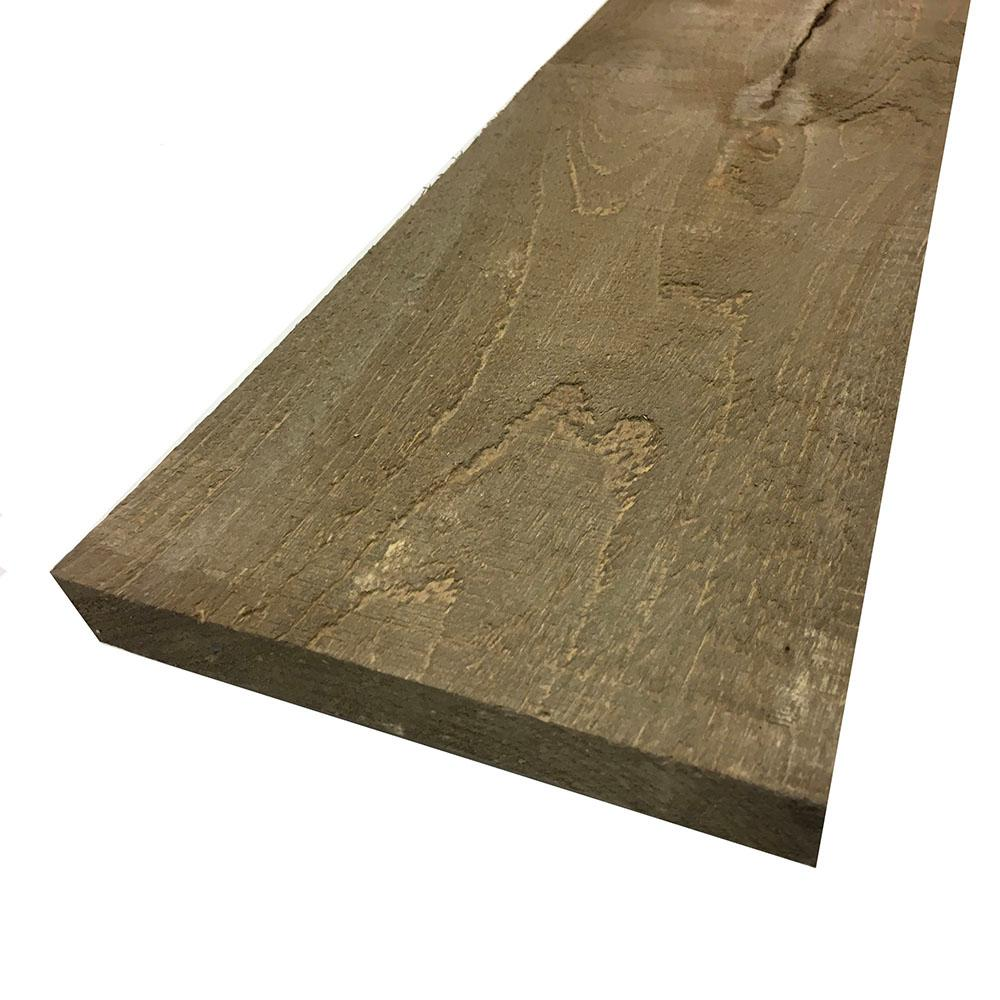 1 in. x 8 in. x 8 ft. Driftwood Brown Painted Rough Pine Barn Board (3 Per Box)