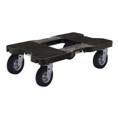 1,500 lbs  Capacity Air-Ride Professional E-Track Dolly in Black
