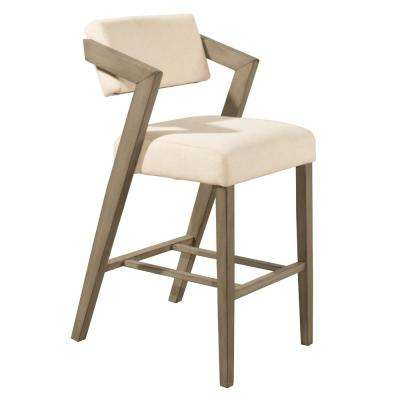 Snyder 30 in. Aged Gray Non Swivel Bar Stool