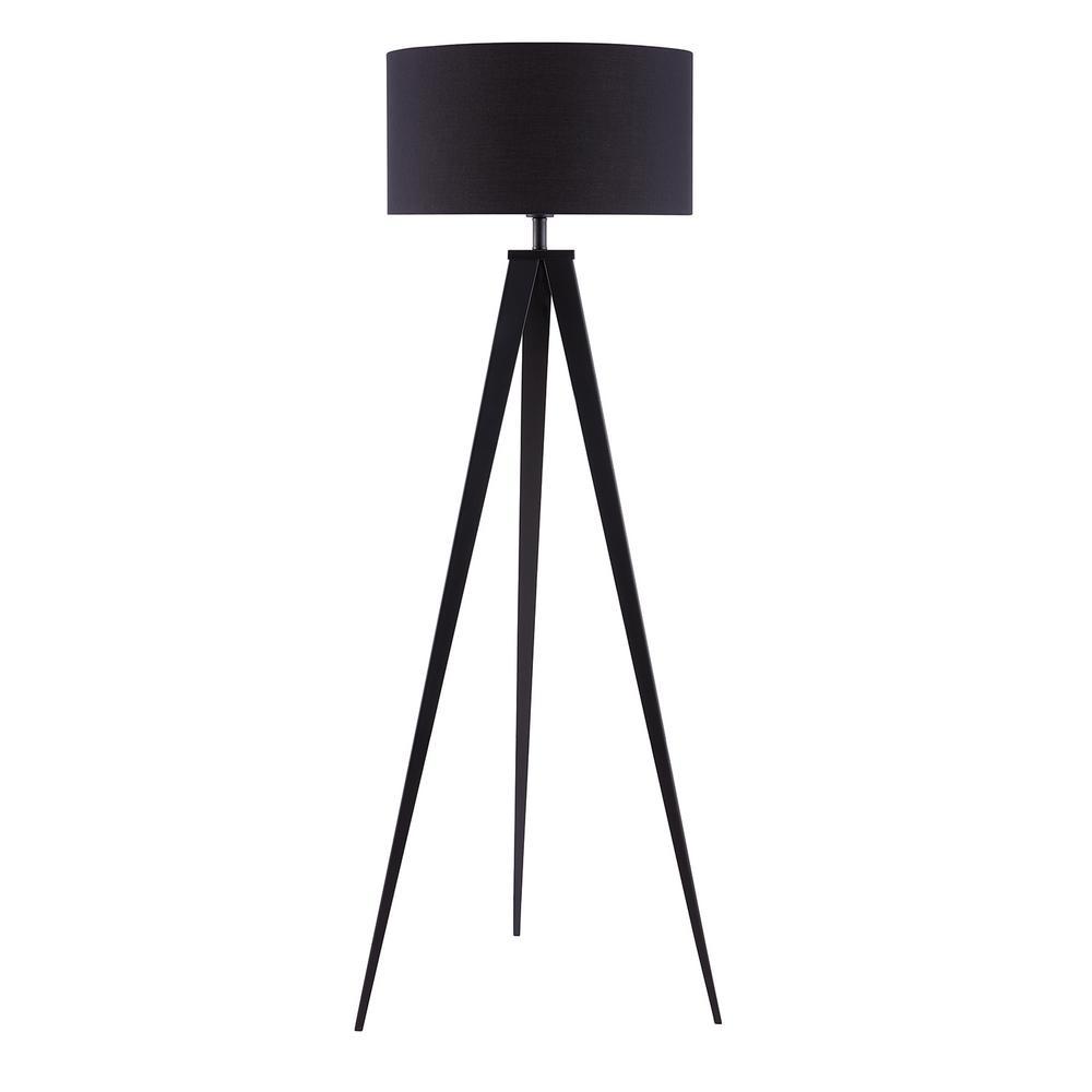 Zeppi 60 in. Black Living Room Lamp