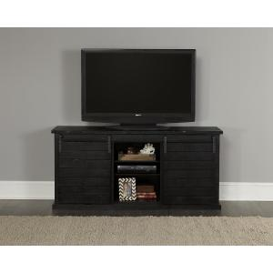 Huntington 64 in. Distressed Black Entertainment Console