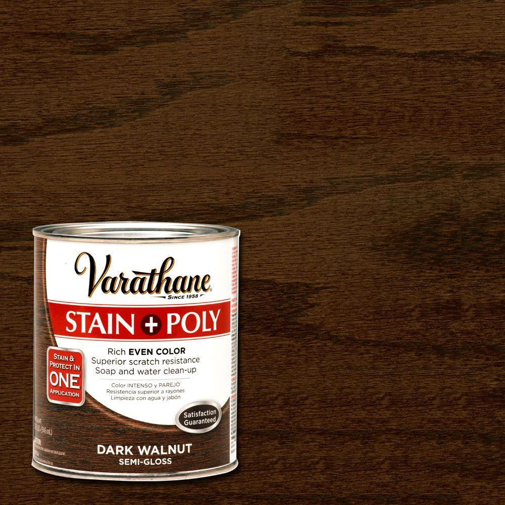 Home Depot Floor Stain Colors Dark Walnut Stain and Polyurethane (Case of 2)