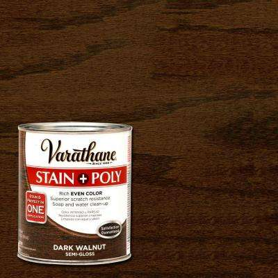 1-qt. Dark Walnut Stain and Polyurethane (Case of 2)