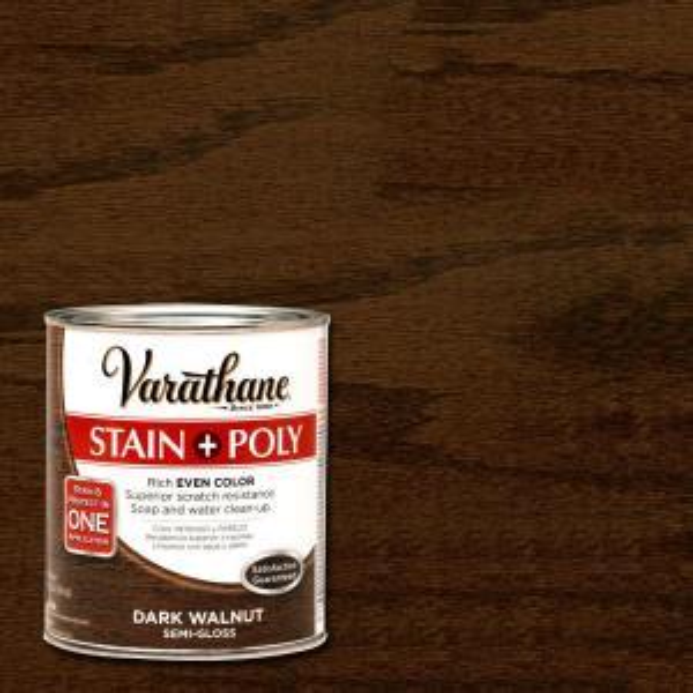 Varathane 1 Qt Dark Walnut Stain And Polyurethane 266159