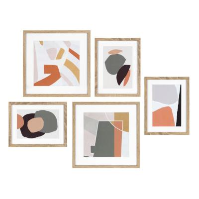 Mid-Century Modern Framed Wall Art Set 15 in. x 15 in.
