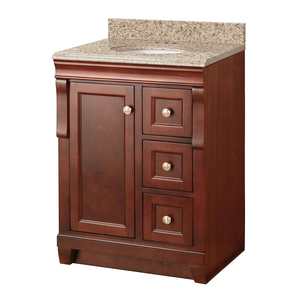 Foremost naples 25 in w x 22 in d vanity in tobacco with for Foremost home