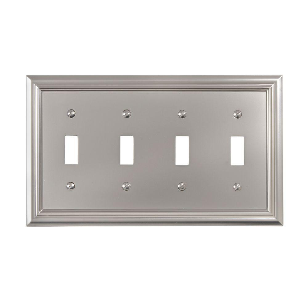Continental 4 Toggle Wall Plate - Nickel