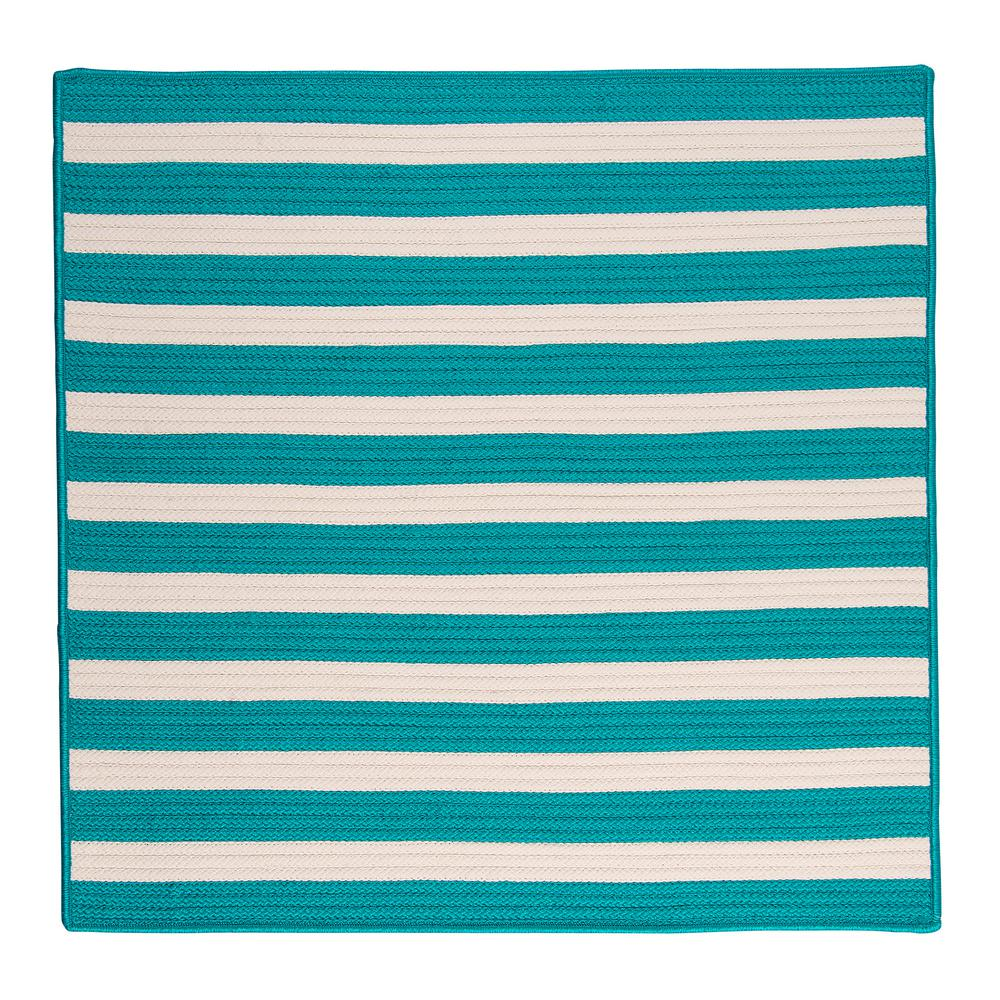 Home Decorators Collection Baxter Turquoise 12 Ft X 12 Ft Square Indoor Outdoor Braided Area