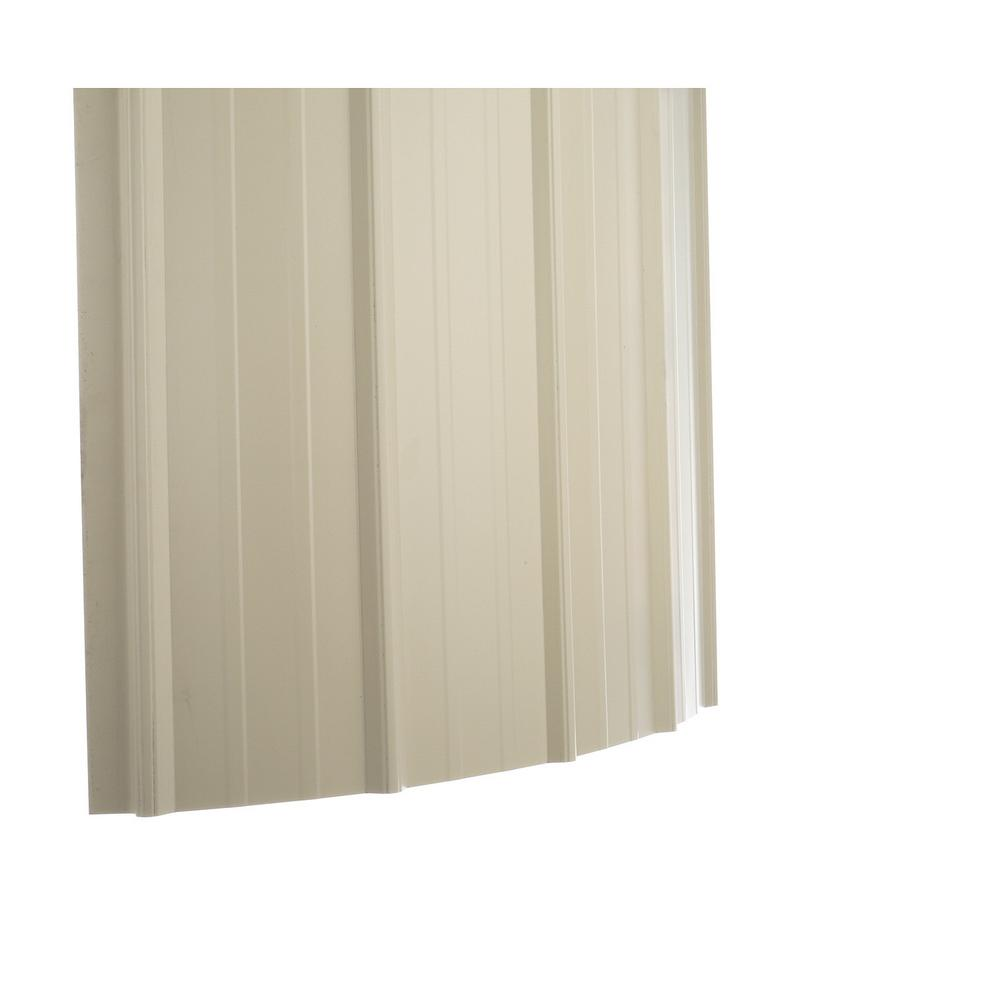 Gibraltar Building Products 12 Ft Sm Rib Galvanized Steel 29 Gauge Roof Panel In Light Stone 04910 The Home Depot