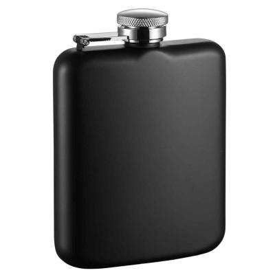 Podova Black Matte Stainless Steel Liquor Flask