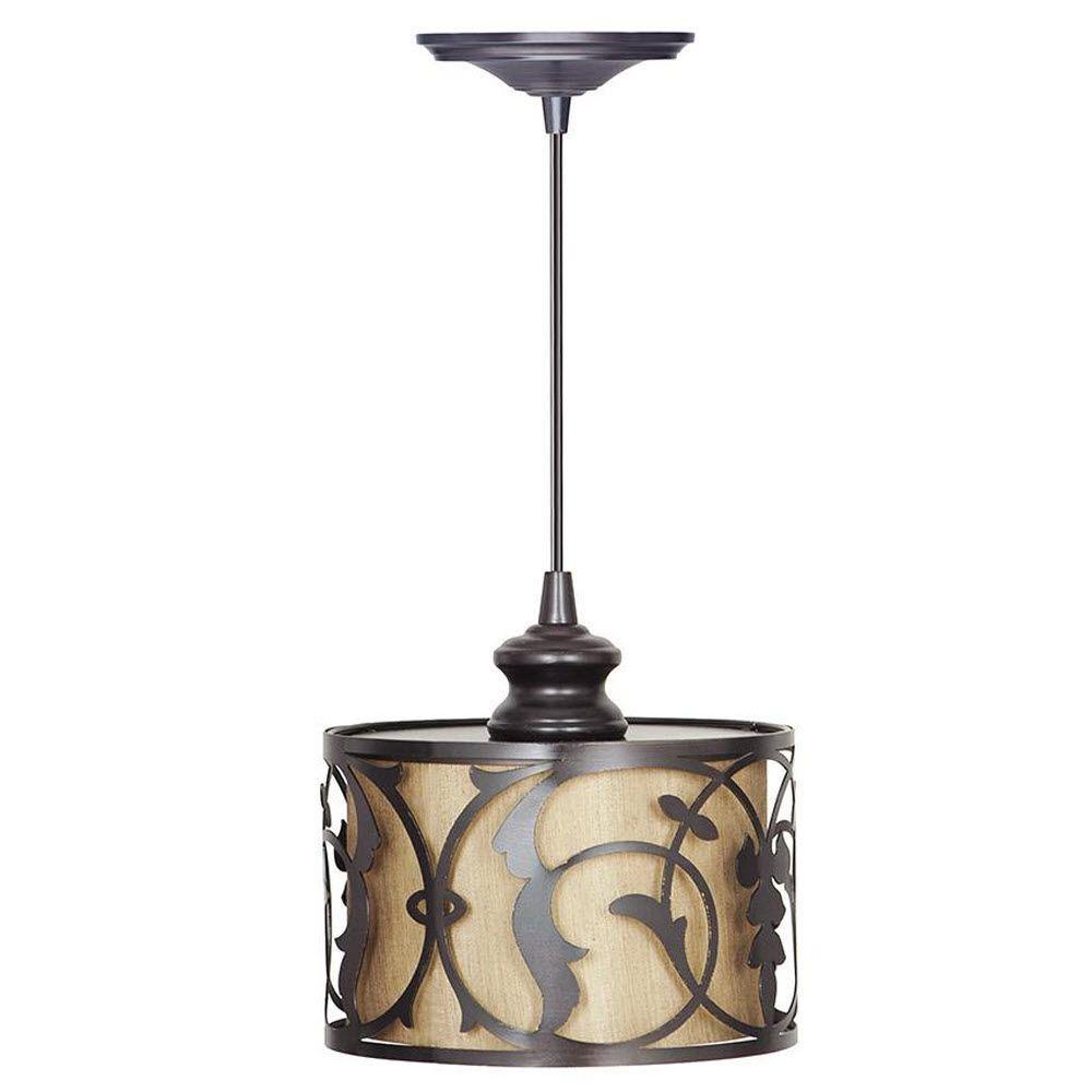 Haven 1-Light Brushed Bronze Hardwire Pendant