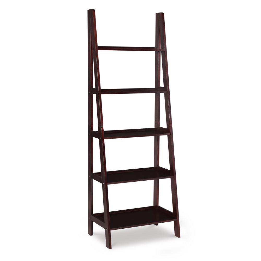Craig Acadia Espresso Ladder Bookshelf