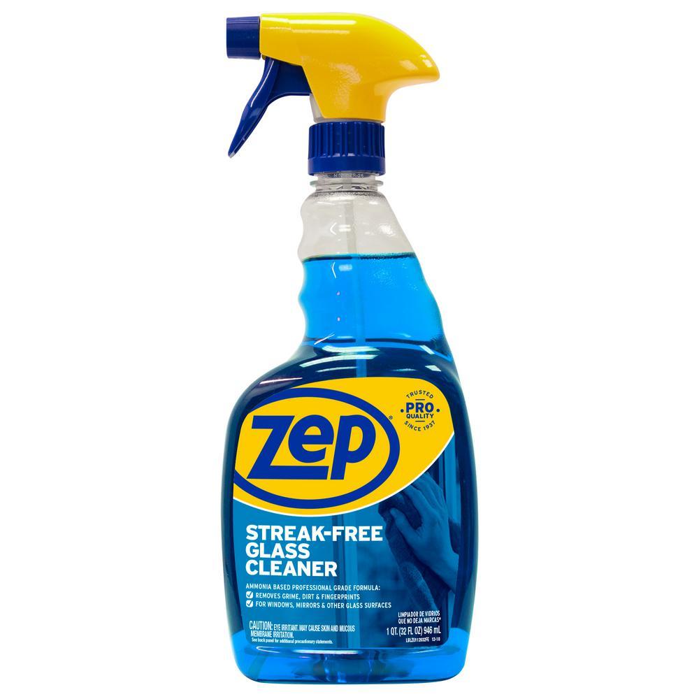 12fb3a0d7 ZEP 32 oz. Streak-Free Glass Cleaner-ZU112032 - The Home Depot