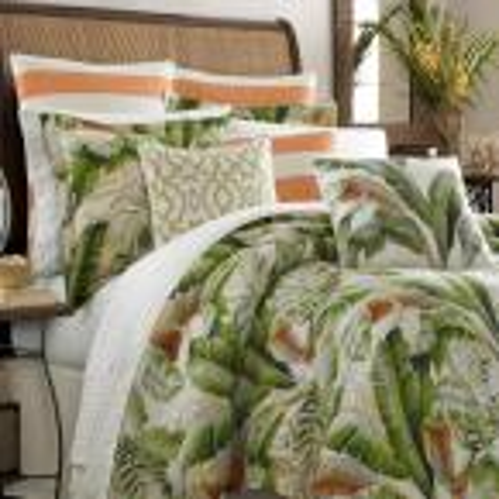 Tommy Bahama Palmiers 4-Piece Green Queen Comforter Set